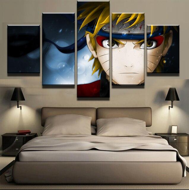 5 Panel Modulaire Foto Naruto Wall Art Foto Modern Interieur ...