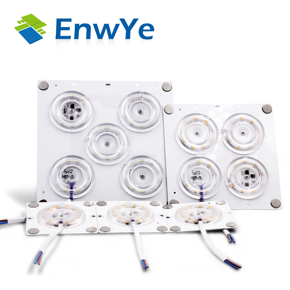 EnwYe Ultra Bright 12W 24W 36W 45W LED Ceiling Lamp Replace Accessory Magnetic Source Light Board Bulb 220V LED No Need Driver
