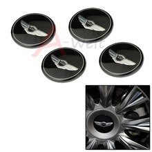 4pcs 59mm GENESIS COUPE car emblem Wheel Center Hub Caps wheel Badge covers sticker Accessories Free shipping car-styling