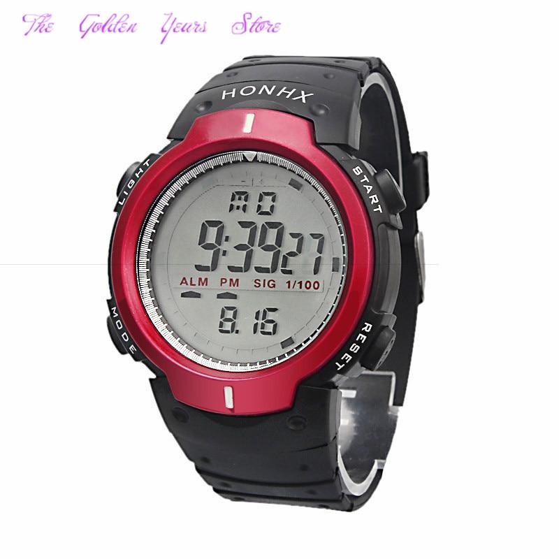 New 2017 relogio masculino Reloj Watch Men fashion Outdoor Mountaineering Sports Men Digital LED Quartz WristWatch