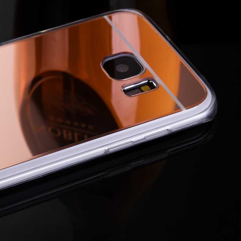 Роскошь для samsung Galaxy A3 A5 A7 J1 J5 J7 2016 Чехол Зеркало чехол из ТПУ для задней панели для Galaxy S7 S6 край A8 J2 J3 S3 S4 S5