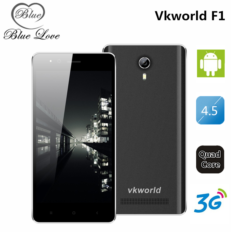 Original Vkworld F1 Android5 1 Mobile Phone Dual Sim 4 5 inch WCDMA MTK6580 1850mAh Quad