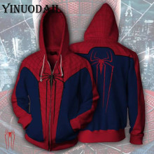 Avengers Spiderman Superhero Autumn New Casual Sweatshirt Print Hooded 3d Hoodies Harajuku Mens