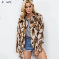 Vintage Women Mixed Color Faux Fur Coat 2018 Winter Plus Size Imported China Short Shaggy Jackets Ladies Fur Coats futro damskie