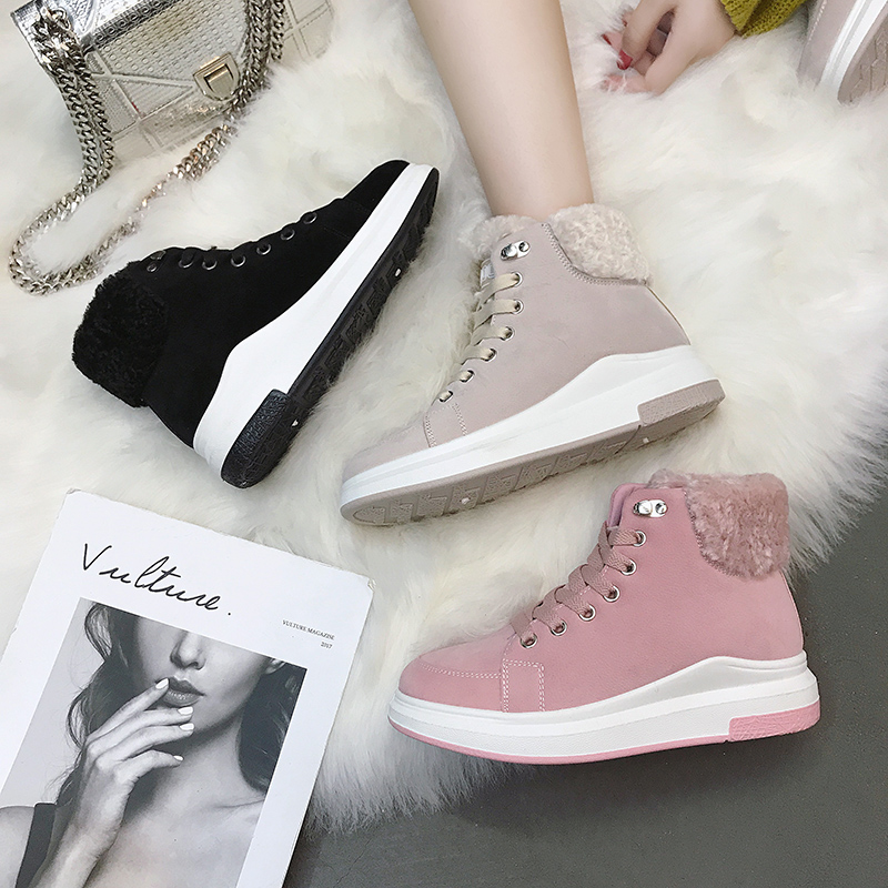 Women Casual Shoes Winter Fashion Sneakers Outdoor Warm Vulcanize Shoes Brand Trend Flat Walking Shoe Lady Zapatillas Snow Boots e lov women casual walking shoes graffiti aries horoscope canvas shoe low top flat oxford shoes for couples lovers