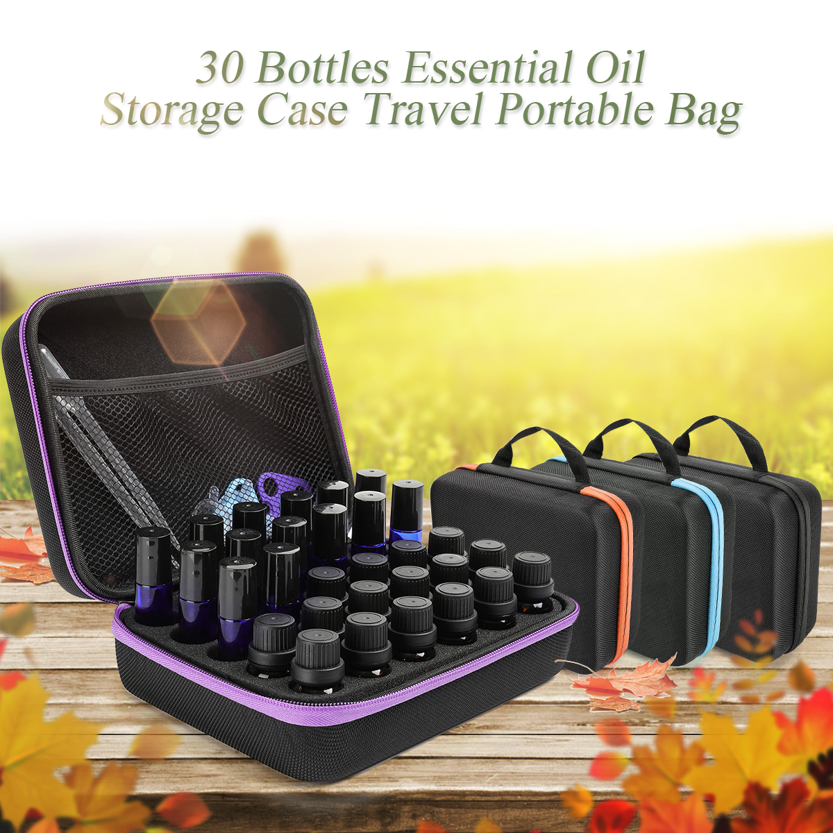 Ätherisches Öl Fall 30 Flaschen 5 ml 10 ml 15 ml Multicapacity Ätherisches Öl Box Tragen Tasche Nagellack Parfüm öl Lagerung Tasche