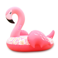 59 Inches Pink Sleepy Flamingo Inflatable Swimming Pool Floating Island Holiday Water Mattress Boia Piscine Party Toys Beach Bed