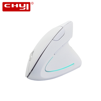 5th Ergonomic Wireless Mouse Vertical Mouse Wireless 2.4Ghz 800-1200-1600 DPI White Gaming Optical Mice For PC Laptop Desktop