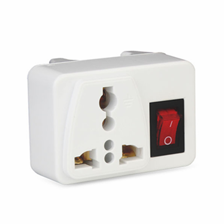 цена на White copper 250v 10/6A UK universal adaptor socket Portable outlet extend converter plug socket with on off light switch