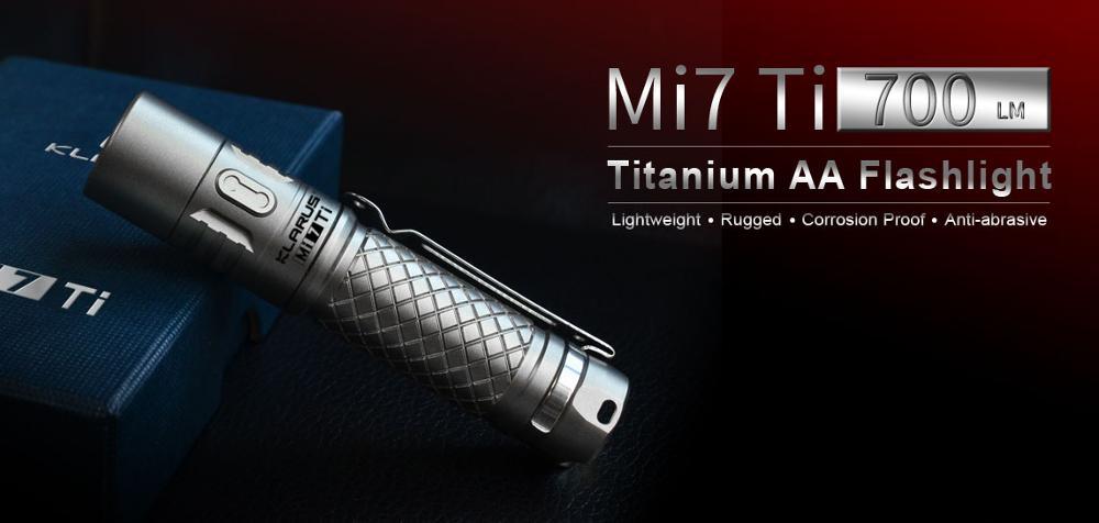 KLARUS Mi7 Ti LED Flashlight CREE XP-L HI V3 LED 700 Lumens mecarmy pt16 ti led flashlight page 2