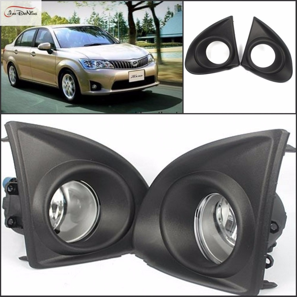 JanDeNing For Toyota AXIO 2013-2014 A Set Front Fog Lamp Cover Trim Replace assembly kit black (one Pair) саваж каталог осень зима 2013 2014