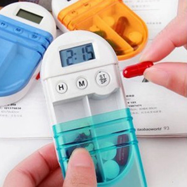 Automatic Electronic Timing Timed Reminding Pill Medicine Box Wholesale Battery included