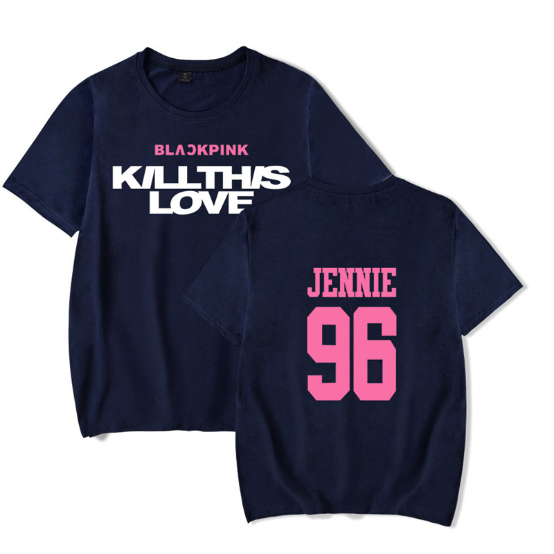 Kill This Love Blackpink Tshirt Kpop T-shirt Jennie Women Streetwear Short Sleeve Blackpink Clothings Kpop Tshirt Women T shirt