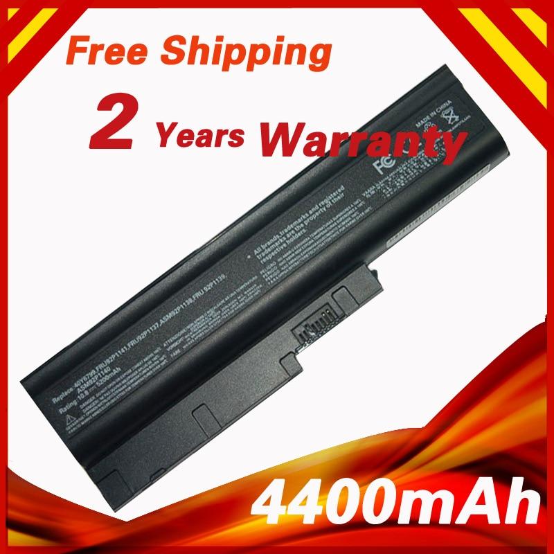 Golooloo 4400mah Battery For Ibm T500 W500 R500 R61 R61e R61i T61 T61p R60 R60e R61 R61e R61i T60 T60p Laptop Batteries