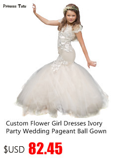 Custom Flower Girl Dresses Embroidery Princess Girl Party Pageant Formal  Dress White Kids Girls Ball Gown First Communion Dress 9842ae09147c