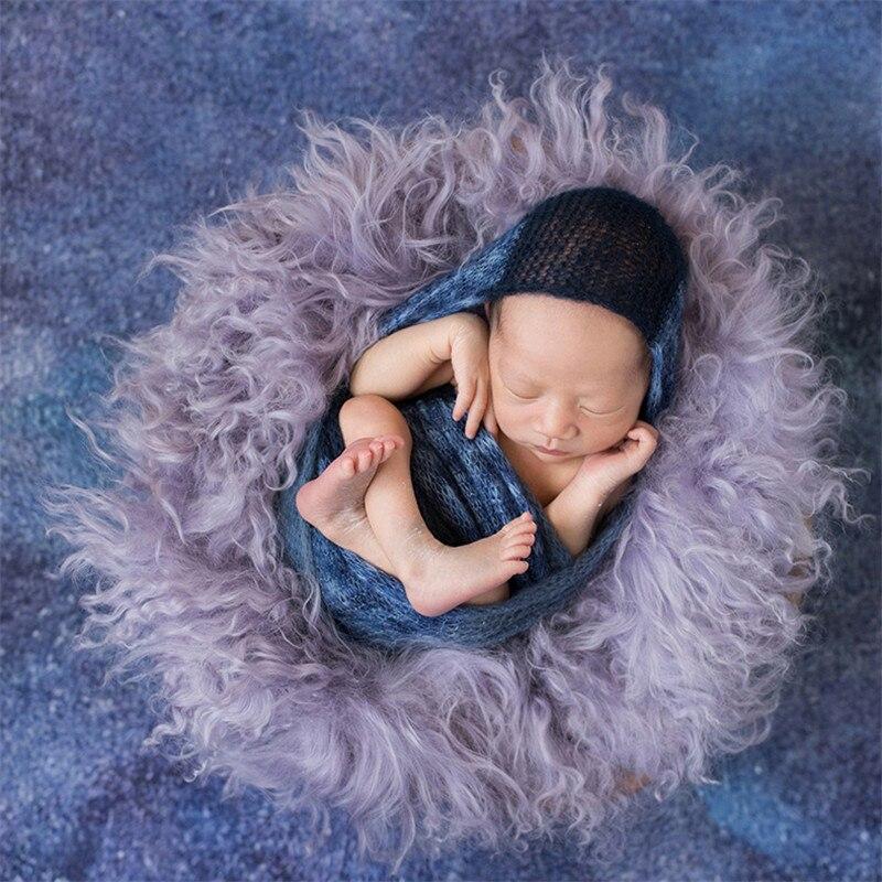 Nouveau-né photographie accessoires Wrap haute qualité Pure laine couverture bébé Photo fond Pad Flokati nouveau-né Studio tir accessoires