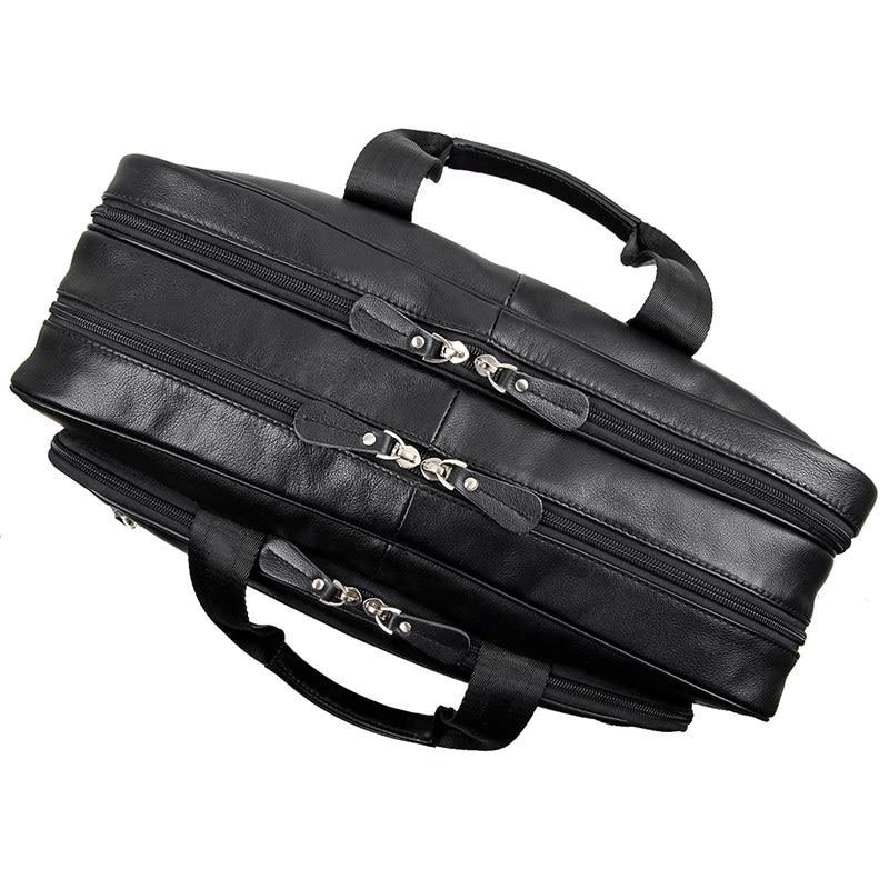 مكتب nesitu الأسود حقيقية جلد الرجال حقيبة رسول حقيبة سفر الأعمال 14 '/15.6'/17 'محمول محفظة M7367-في حقائب جلدية من حقائب وأمتعة على  مجموعة 2