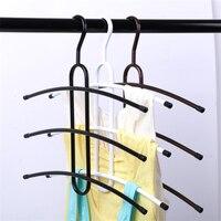Gancio in metallo multi-funzione creativa multistrato a lisca di pesce gancio magico antiscivolo negozio di abbigliamento grucce per i vestiti cremagliera