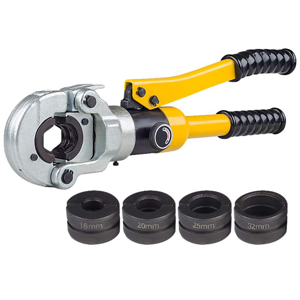 10Ton 16-32mm2 Braçadeira Alicates de Friso Ferramenta de Compressão Tubo Tubo Tubo de Pressão Hidráulica para Tubos de Alumínio-plástico