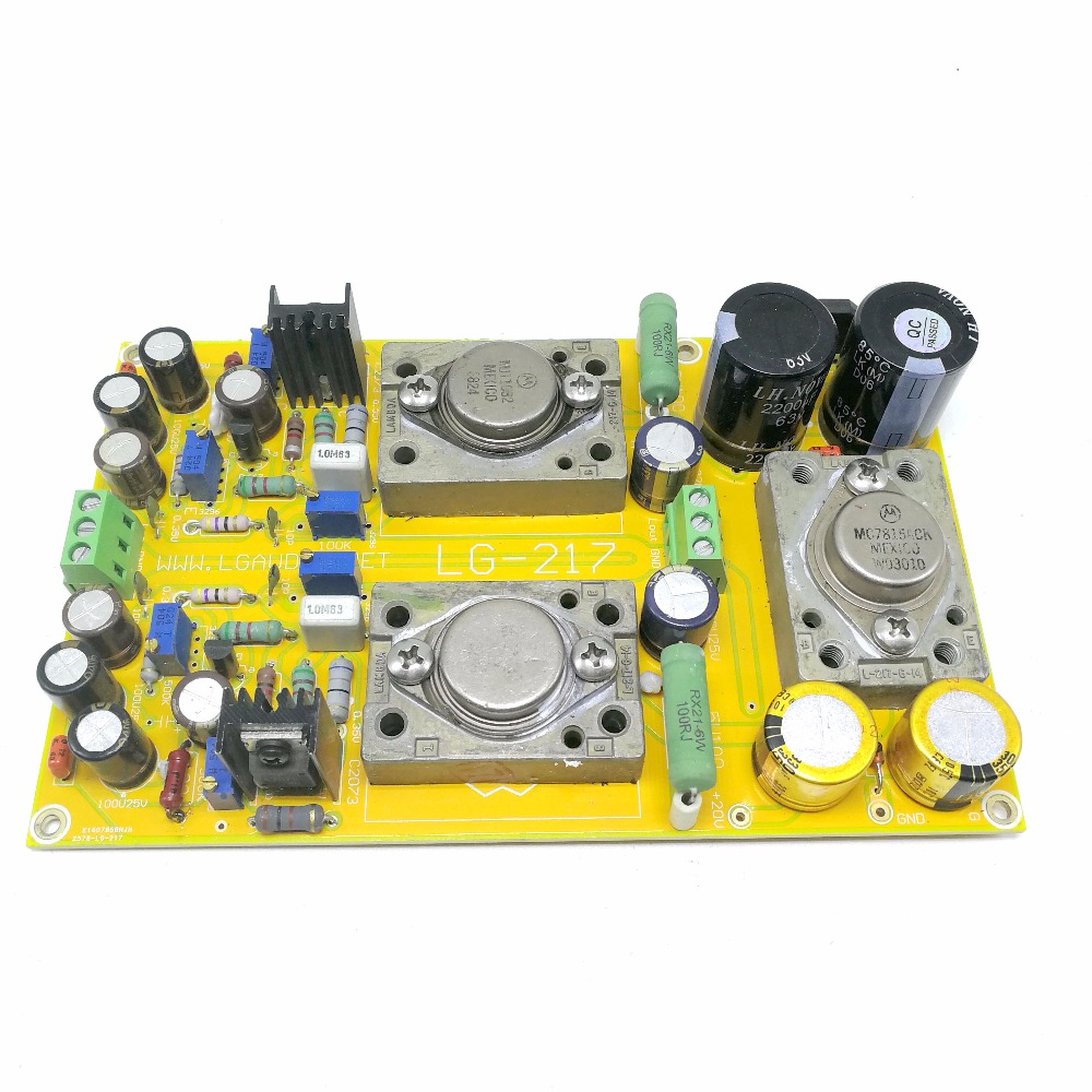 Pure Class A Single End Pre Stage Magnifying Plate Double Channel: Circuit Single End Class A Two Stage Magnifying LG-217