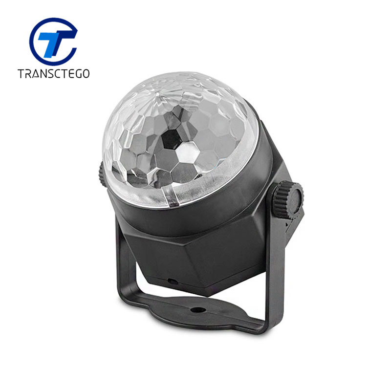 TRANSCTEGO Disco Light USB Party Laser For Car DJ Magic Ball Sound Control Moving Lamp Head vehicle Disco Projector Stage Lights transctego led stage lamp laser light dmx 24w 14 modes 8 colors disco lights dj bar lamp sound control music stage lamps