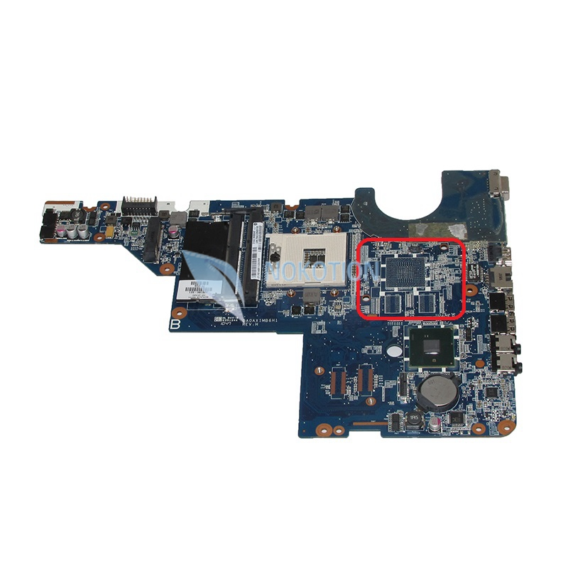NOKOTION DA0AX1MB6H1 595184-001 Main board For HP Pavilion G42 CQ42 laptop motherboard HM55 DDR3 intel HD GMA works nokotion laptop motherboard 720565 601 for hp envy 15 15 j 720565 001 main board uma hm87 gma hd ddr3 w8std