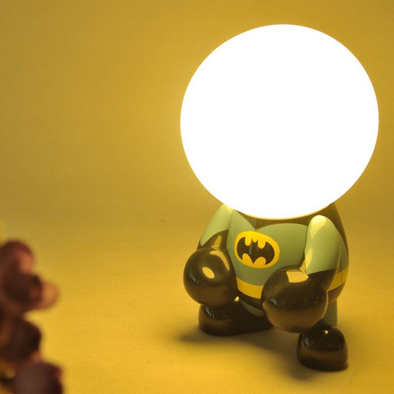 FENGLAIYI New USB Charging LED Night Lights Superman Batman Luminaria Holiday Party Decoration Children's Nightlight Desk Lamp стоимость