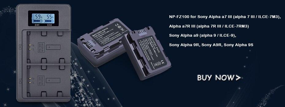 para sony alpha a9, alpha a7r iii,