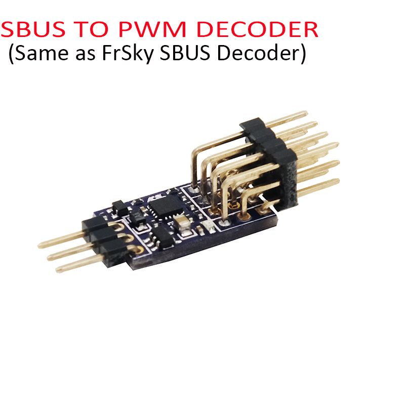 SBUS TO PWM DECODER FOR FRSKY RXSR XM+ XSR RECEIVERS SBUS TO PWM SIGNAL OUTPUT radiolink r6ds 2 4g 6ch ppm pwm sbus output receiver