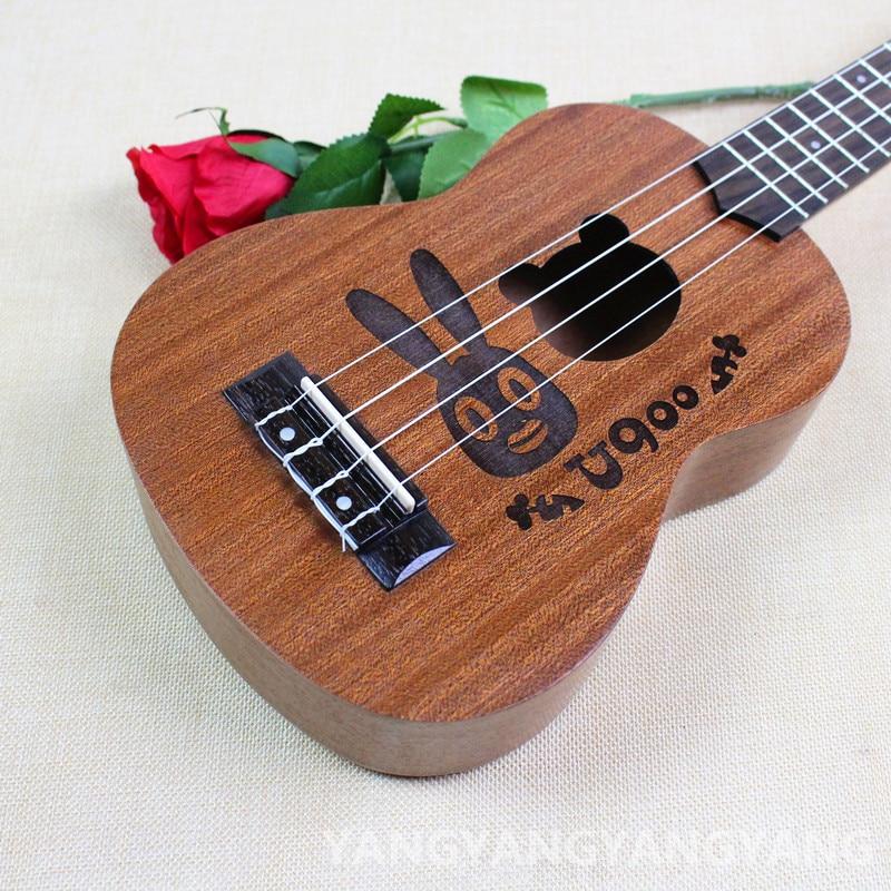 Soprano Concert Ukulele 21 23 Inch Hawaiian Guitar 4 Strings Ukelele Guitarra Handcraft Wood rebbit Cartoon Sapele Musical Uke concert ukulele 23 inch hawaiian guitar 4 strings ukelele guitarra handcraft zebra wood musical instruments uke