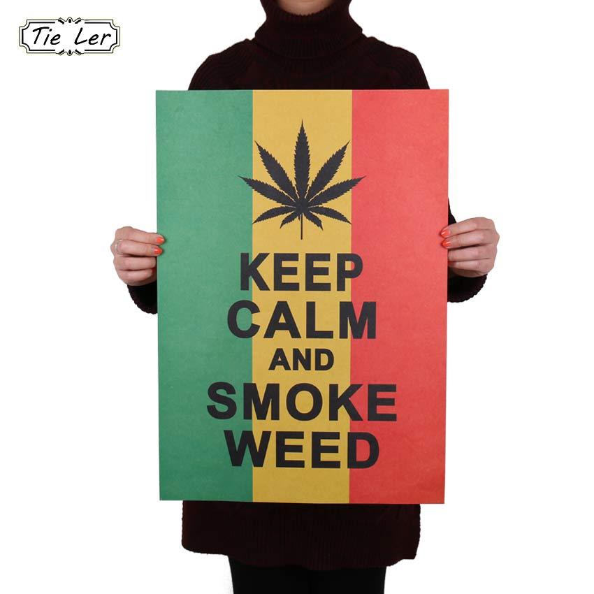 TIE LER Home Decor Poster Estilo Reggae Jamaicano A Mantener la Calma Pegatinas