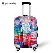Nopersonality Colorful Elephant Print Travel Luggage Cover Tag Stretch 18/20/22/24/26/28/30 Travel Suitcase Cover Baggage Cover