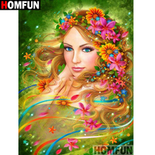 HOMFUN Full Square/Round Drill 5D DIY Diamond Painting Flower beauty Embroidery Cross Stitch 3D Home Decor Gift A12999 homfun full square round drill 5d diy diamond painting beauty flower embroidery cross stitch 3d home decor gift a13396