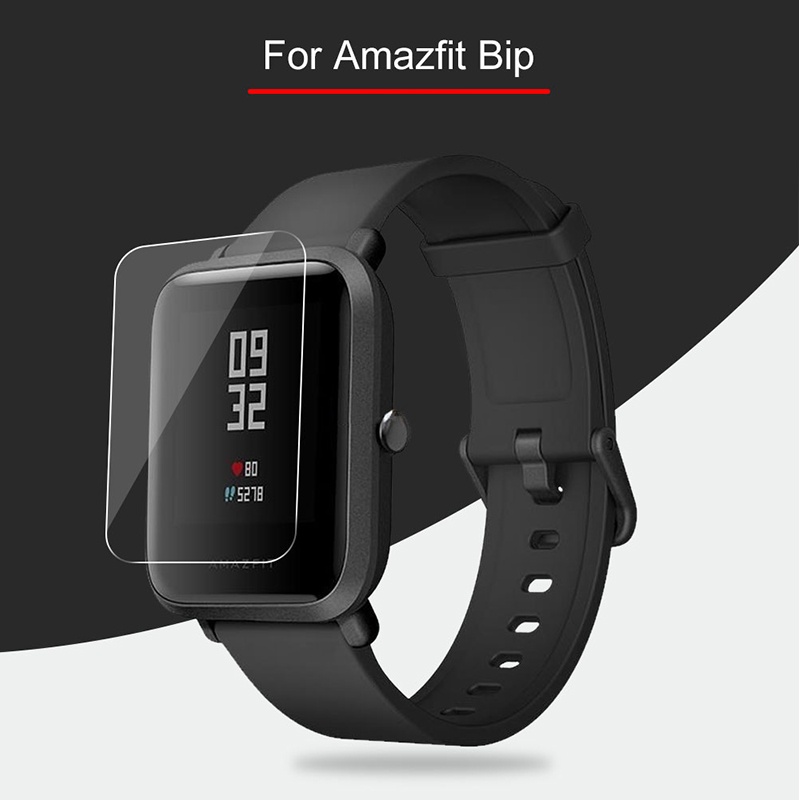 3Pcs For Xiaomi Huami Amazfit Bip Liquid Glass Screen Protector Soft Nami (Not Tempered Glass) Protective For Amazfit Bip (Lucent)