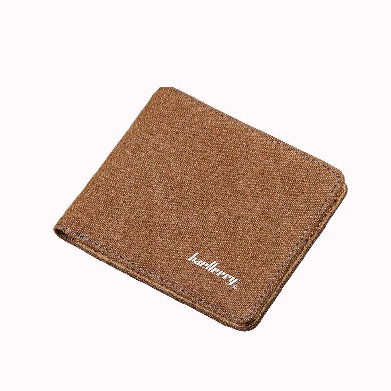 2017 Baellerry Brand Casual Canvas Men Short Wallet Money Coin Purse Small Billfold Card Holder Student Pocket Bag Solid Clutch