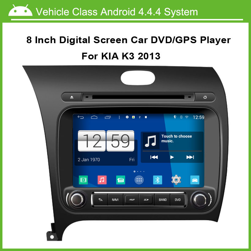 8 inch 1024*600 high resolution Multi-touch Capacitive screen Android Car DVD Player for Kia Cerato K3 Forte 2013 Built-in WiFi