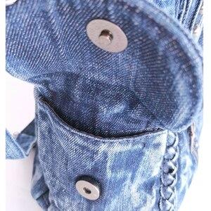 Image 5 - IPinee 브랜드 여성 가방 2020 패션 데님 핸드백 여성 청바지 어깨 가방 직조 디자인 여성 토트 백