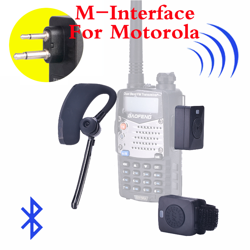 Walkie Talkie Wireless Headset Bluetooth Two Way Radio Headphone Earpiece For Motorola HYT