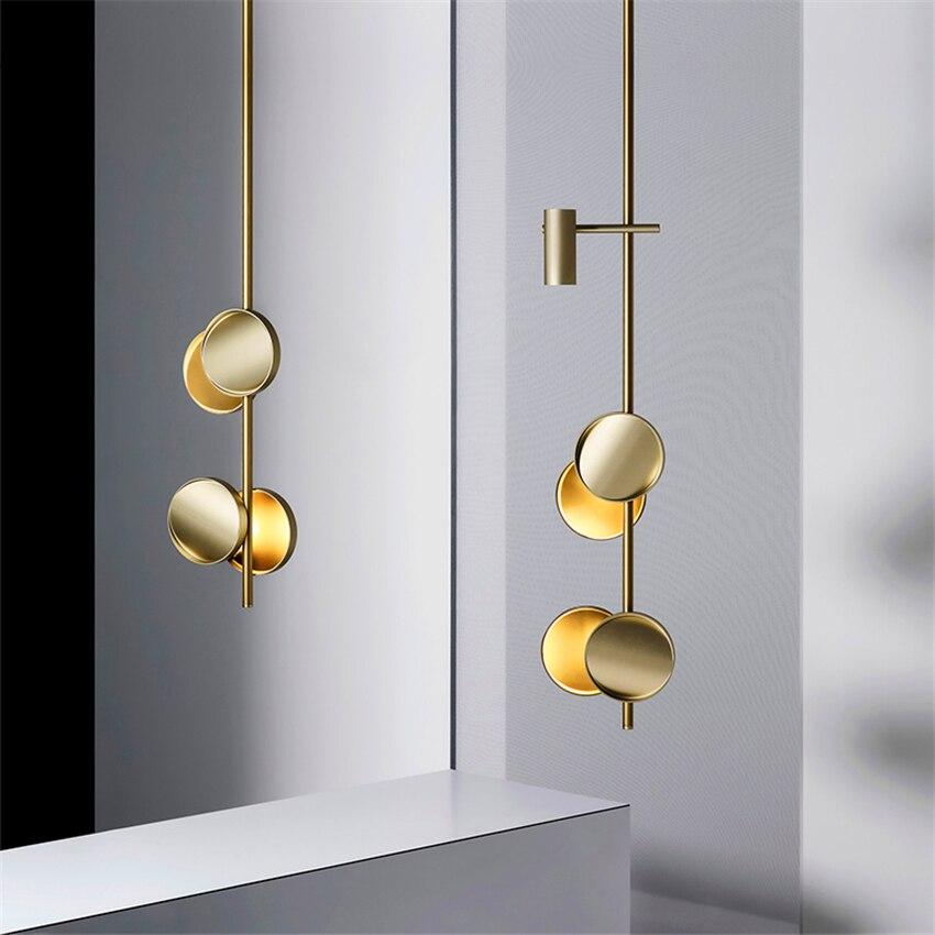 Nordic искусство подвесные лампы салон красоты освещения Роскошная стрелка светодиодный подвесные светильники гостиная подвесной светильни