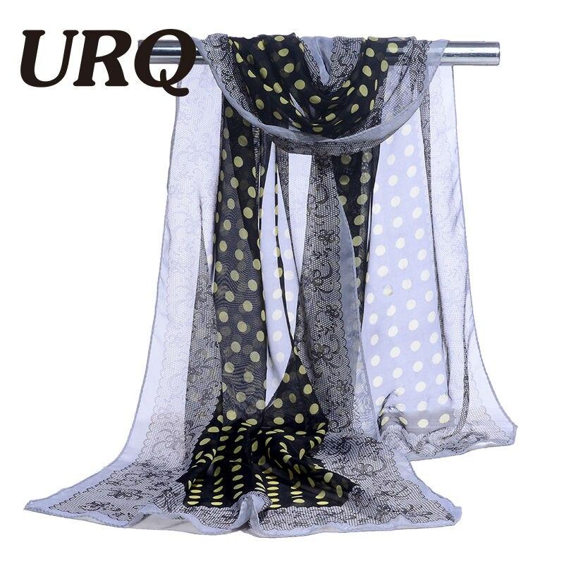 bufanda de gasa estampado de punto y encaje bufanda de mujer seda - Accesorios para la ropa - foto 3