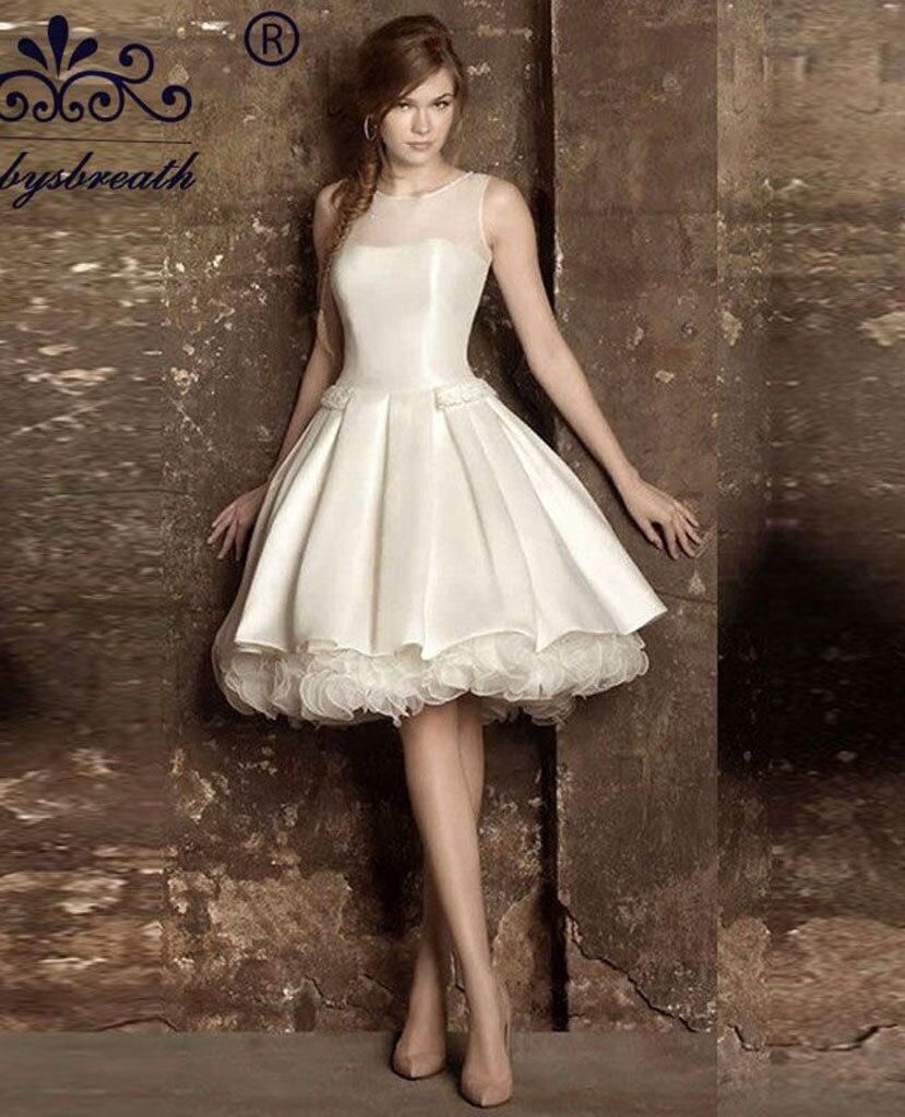 Vintage wedding dress tea length length wedding dress for Silk vintage wedding dresses
