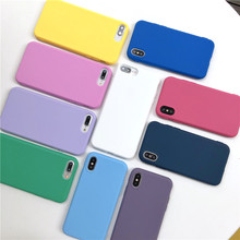 For iPhone X XR XS MAX Cute Candy Color Cover Solf TPU Silicone Phone Case For iPhone 5 5S SE 6 6S 7 8 Plus Back Protective Capa simple protective silicone back case for iphone 5 blue