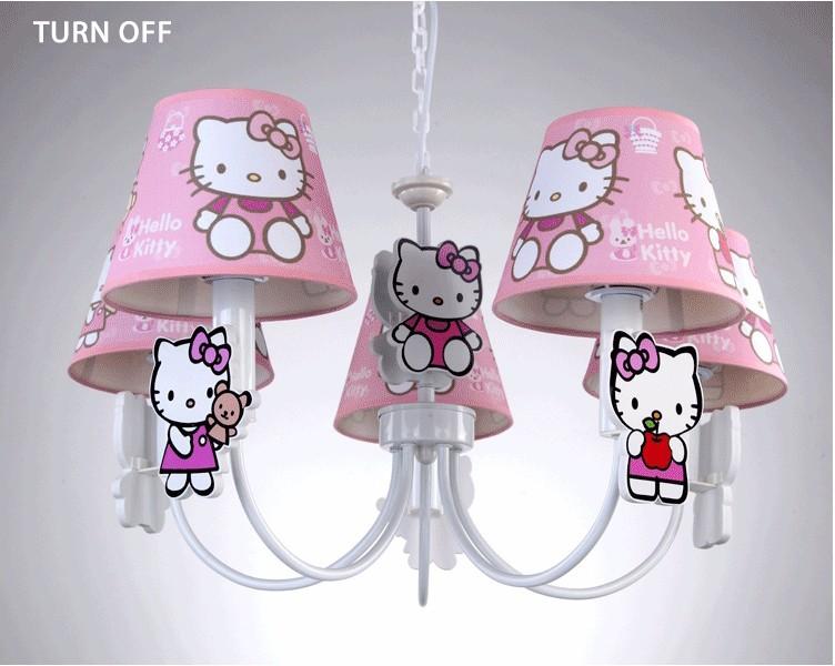 Slaapkamer Lamp Roze : Nieuwe kinderen slaapkamer meisje prinses hellokitty hanger lamp
