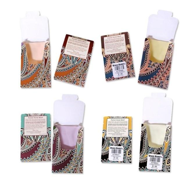 25pcs/Box Outdoor Travel Soap Paper Washing Hand Bath Clean Scented Slice Sheets Disposable Boxe Soap Portable Mini Paper Soap 1