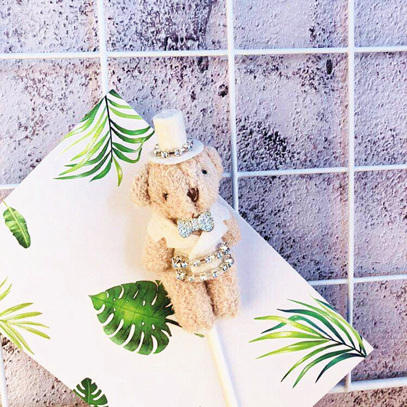 Cub Cake Decoration Water Diamond Puppet Couple Plug in Bride and Groom Wedding Party Decoration Wedding Decor Cake Decorations in Party DIY Decorations from Home Garden
