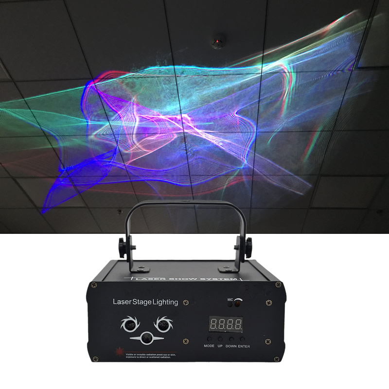 Sharelife Mini DMX RGB Hypnotic Aurora DJ Laser Light Projector Auto Sound Home Gig Party Show Stage Lighting DJ-518W