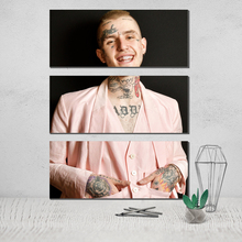 Lil Peep Photo Canvas Poster 3 Panel Wall Art Painting Modern Abstract on Oil Deco Home Plakat