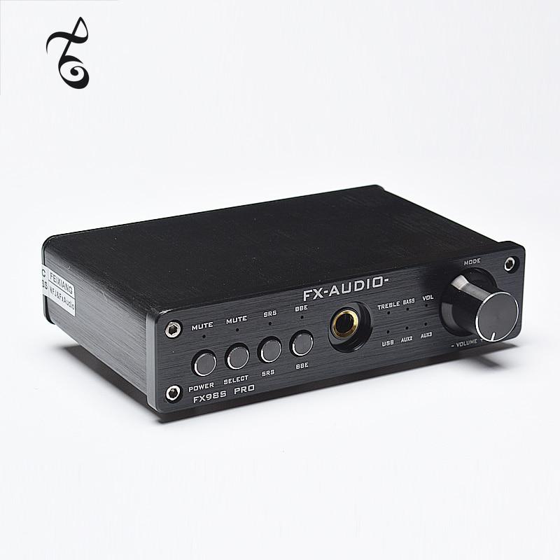 FX-AUDIO FX-98S upgraded version of USB audio processor PR0 decoding DAC PCM2704 MAX9722 pre-amp JRC NJW1144 audio amplifier wavelets processor