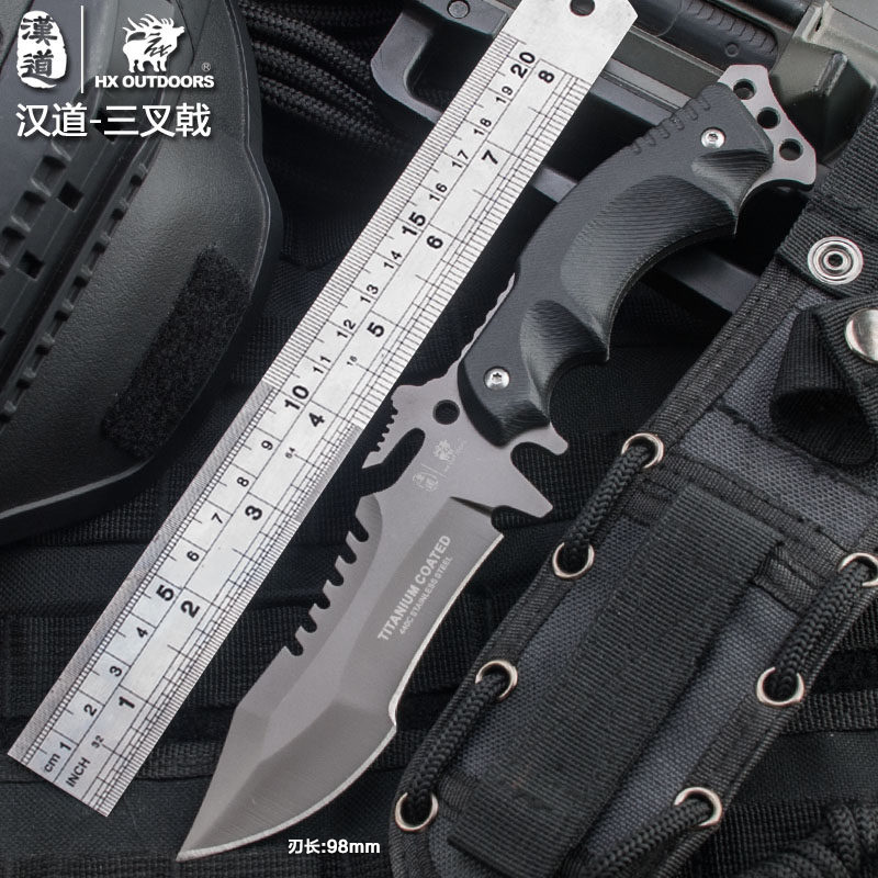 HX OUTDOORS army Survival knife outdoor tools high hardness small straight knives essential tool for self-defense Favorites
