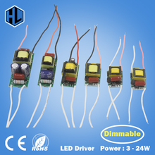 Dimmable LED Driver 3-24W High Quality Power Supply Adapter Input AC220-240V Output DC9-84V Light Transformer for Led Strip Lamp